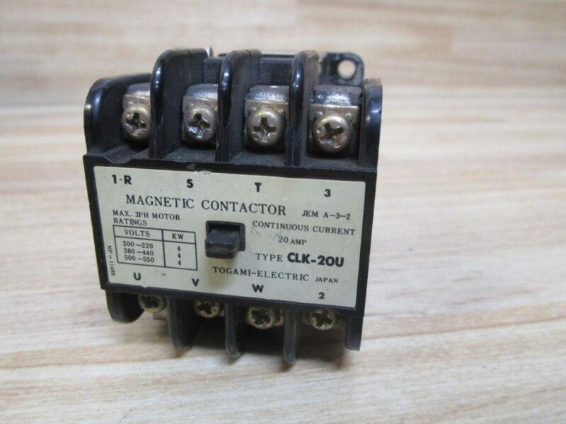 Togami CLK-20U Contactor CLK20U