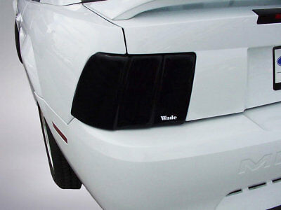 2-Piece Smoke Tail Light Covers for 1999 - 2004 Ford Mustang (Smoke Tail Light Covers)
