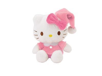 Plüschtier Hello Kitty Schlafmütze klein Kuscheltier Schultüte Schulanfang rosa