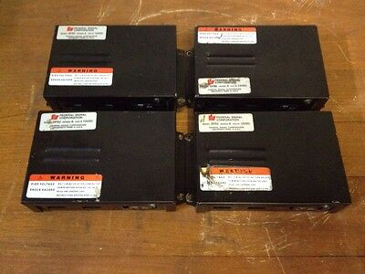 Lot Of 4 Federal Signal Model Sps2 Series A Strobe Power Supply Untested