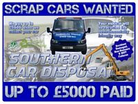 Scrap Cars & Vans Wanted - Non-Runners, Accident Damaged & MOT Failures Collected