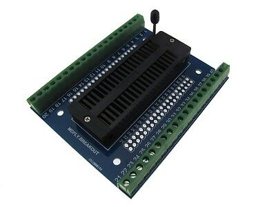 40 Pins Zif Socket To Dip Screw Terminals Breakout Board Module