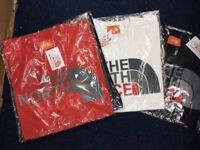 T shirts Armani north face Ralph Lauren sizes S M L XL