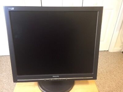"Philips 190B 19"" Flat Screen LCD Monitor Excellent Resolution High Quality Nice!"