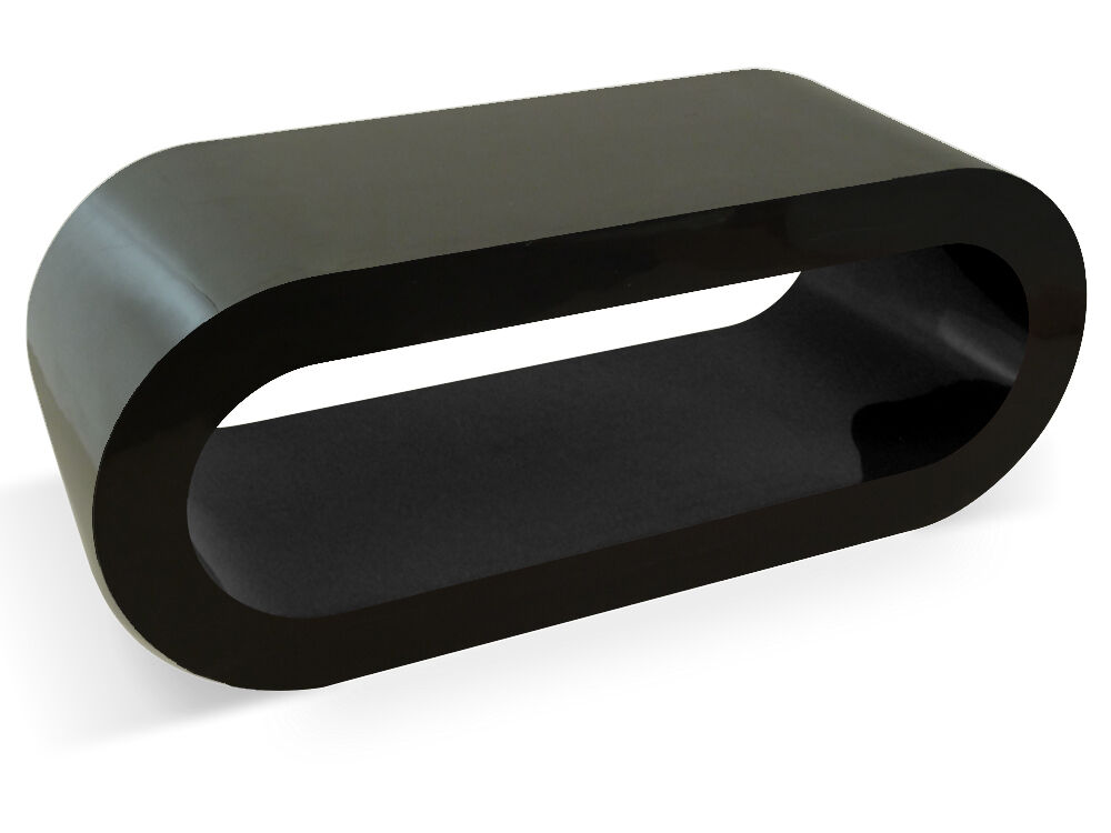 Bespoke Designer Coffee Table Black High Gloss Large Modern Wooden Oval