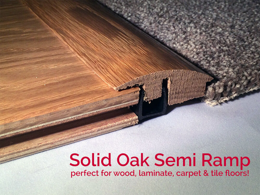 solid semi ramp carpet wood flooring profile trims door threshold cover oak new