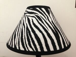 Zebra Print Fabric Lamp Shade