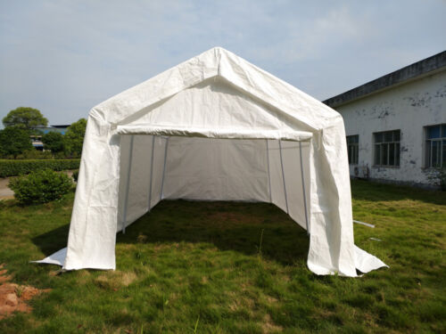Heavy Duty 3x6m Portable Garage Tent Shelter Carport Canopy Steel Frame White UK & Heavy Duty 3x6m Portable Garage Tent Shelter Carport Canopy Steel ...