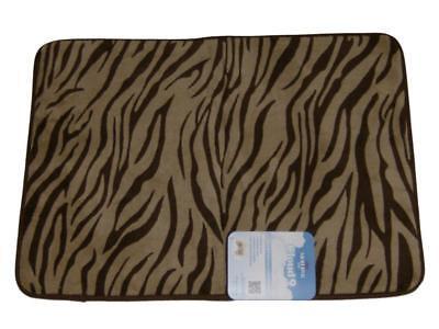 Zebra Bath Rugs - Mohawk Cloud Luxurious Memory Foam Brown Zebra Bath Mat Skid Resistant Throw Rug