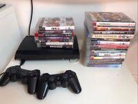PS3 super slim 500gb new including 20 games