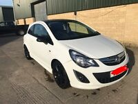 1.2 litre 2013 Vauxhall Corsa White Limited Edition