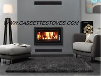 MODERN CASSETTE STOVE !!! FREE DELIVERY inset insert wood burning stove stoves we also have flues