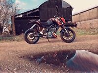 KTM duke 125 2016 private reg ***ktm