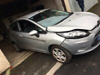 Ford Fiesta edge 1.2 2010 48000 Miles light front damage damaged repairable salvage