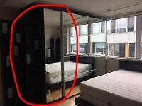 IKEA Pax single mirrored wardrobe