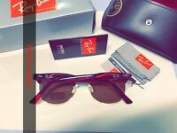 best rayban clubmaster men's women's sunglasses aviator wayfarer retro gold box bag