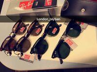 best rayban clubmaster men's women's sunglasses aviator wayfarer new box bag spec free loc del
