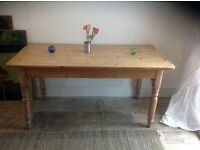 Victorian Pine Kitchen table circa 1880 155 cms length 76cms width and 77cms height