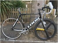 Look 464 track bike- Cinelli bars, Carbon Aero wheel , Carbon forks, Carbon Aero seat post