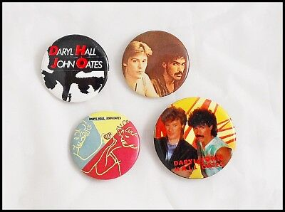 Hall & Oates Lot Of 4 80's Buttons Pins Private Eyes
