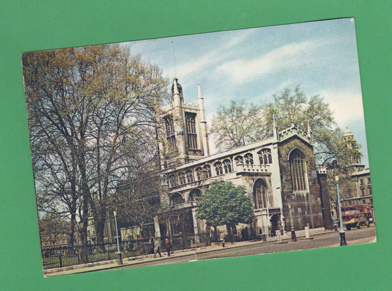 WESTMINSTER ABBEY & ST MARGARET'S CHURCH LONDONG ENGLAND 1968  PRINTED POSTED