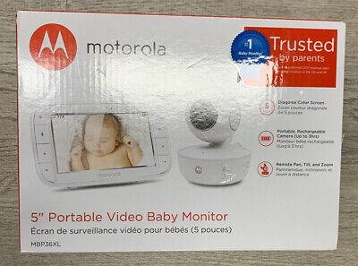 Motorola MBP36XL Portable Video Baby Monitor White BRAND NEW