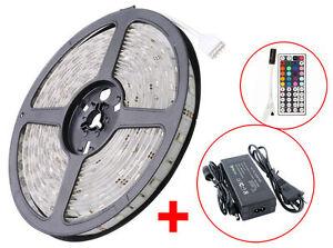 5-50M 30/60LED/m 5050 SMD RGB LED Strip Streifen leiste Band Trafo Fernbedienung