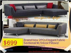 Whole Sale Price To Public EVENT-Brand New Designed Fabric Sectional Blow Out Sale is On@ New Direction Home Furnishings