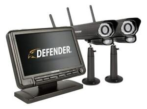Defender PhoenixM2 Wireless Security System with 7`Monitor and Two Cameras