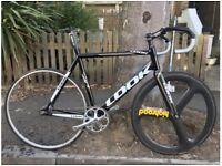 Look 464 Fixie track bike, Cinelli Bars, carbon aero wheel