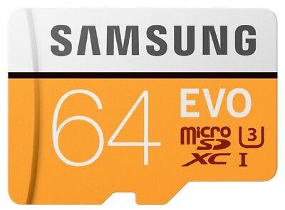 Samsung EVO 64GB microSD *100MB/s U3 4K 64G microSDXC micro SDXC MB-MP64GA +OriA