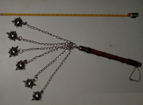 6 Ball Wood Handle Battle Mace , Gladiator , Flail ,Medieval Weapon,Renascence