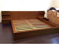 Ikea Malm Standard King Size Ash Brown Bed & Bedsides CAN DELIVER