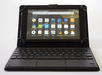 Universal Wireless Bluetooth Keyboard Touchpad Case For Kindle Fire HD 8 9 Dell