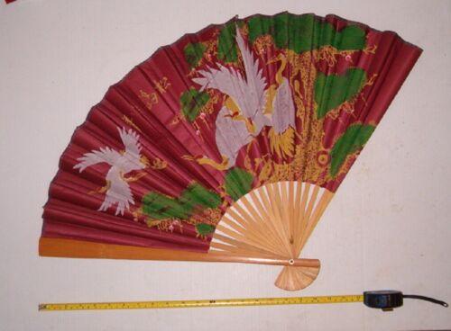 1 LARGE FOLDING CHINESE FAN , ORIENTAL FAN,DECOR, DESIGN VARIES,FREE SHIPPING