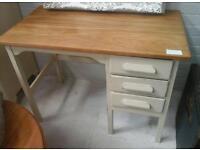 Wooden desk. Ornate