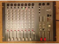 "Mixer Desk - ""Mynah 8-2-1"" Eight XLR and LINE Input Channels. DJ - Table - Studio - Home Recording"