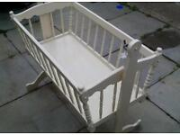 Swinging cot with mattress