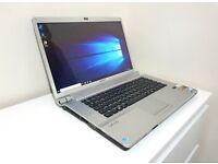 "SONY VGN-FW21E Laptop 15.6"", Intel Core Duo @ 2.26GHz CPU,320GB HDD,4GB RAM, HDMI, WIFI, DVD, Win 10"