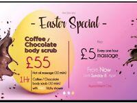 PIM ZEN SPA Easter special Chocolate body scrub free Vichy shower