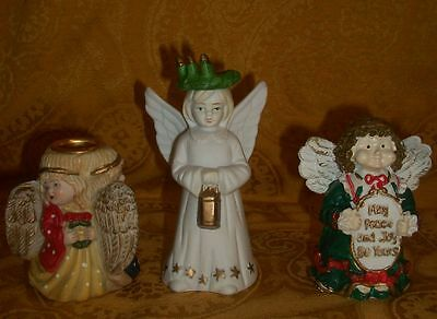 Set of 3 Christmas Angel Figurines
