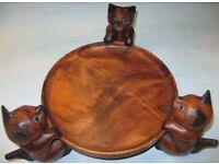 Hand Carved Handmade Wooden Fruit Tray/Bowl/Dish