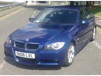 BMW 3 SERIES M SPORT 320d 2006 DIESEL LOW MILEAGE..12 MONTH MOT..JUST BEEN SERVICED..FSH..BEAUTIFUL