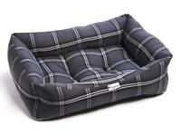Brand New Charcoal Silver Tartan Luxury Sofa Dog Beds - Large ‼️NOW ONLY £28‼️