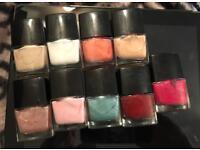 Bundle of nail polishes