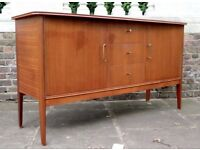 Vintage 'Vanson' for Heal's Danish style teak and rosewood sideboard. Delivery. Modern / Midcentury.