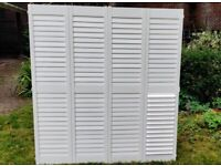 2 x pair solid hard wood plantation style window shutters with frame