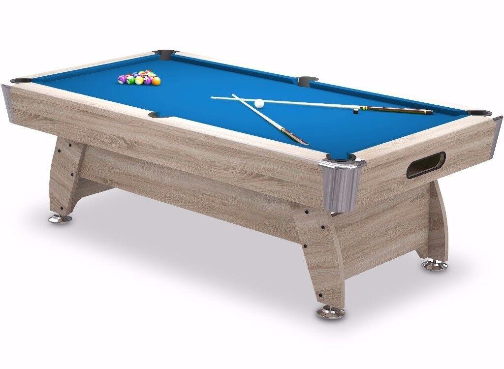 6FT Radley Diamond Pool Table MDF Wood Bed