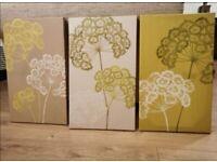 4 Canvas Prints Excellent Condition