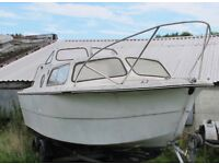 NORMAN 20FT CABIN BOAT PROJECT BOAT ONLY